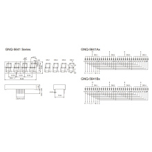 0.56inch 4 Digit 7 Segment Display (GNS-5641AxBx)
