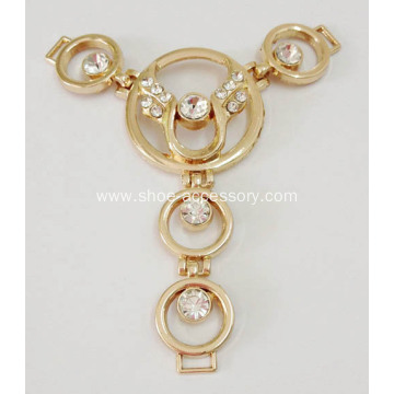 Delicate Sandal Chain with Rhinestone, Metal Sandal Ornaments