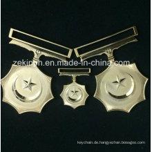 Benutzerdefinierte fünfzackige Sterne Medaille mit Ribbo