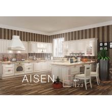 15-25 Tage schnelle Lieferung hohe Qualität Massivholz Stil PVC-Membran Küchenschrank