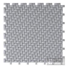 Vidro de arte em mosaico cinza