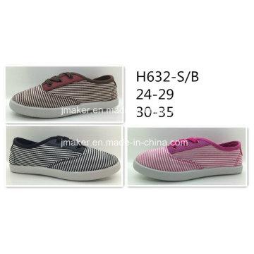Полосатая ткань холст повседневная обувь (H632-S & B)