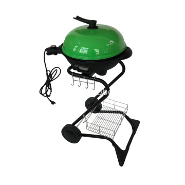 S Shape Electric Grill-grill i grönt