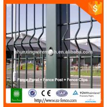 Alibaba galvanisé grande vue clôture en acier soudé / clôture en treillis métallique
