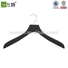 soft matte wooden black coat hanger
