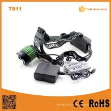 T811 Novo Xml T6 10W LED cabeça luzes lâmpada Camping & Caminhadas 10W T6 LED Zoom Headlamp