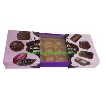 Luxury Packaging Custom Printed Chocolate Box with Plastic Tray Insert