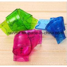 Hot Sale 30cm Clear PVC Flexible Ruler Soft Plastic Ruler