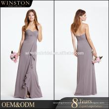 100% Real Photos Custom Made fuchsia color evening dress