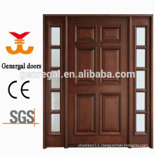 100% solid wood double leaf open wooden entry door