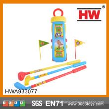Забавный детский спортивный игрушечный пластиковый детский набор для гольфа