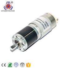 motor elétrico da CC 12v do diâmetro 28mm com redução de engrenagem, redutor do motor da CC 24v para a cortina de janela
