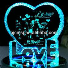 Кристалл айсберг с светом СИД,кристаллический centerpiece венчания или подарки на день любви
