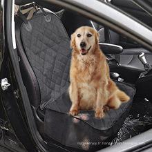 Housse de siège avant pour animaux de compagnie - noir, support étanche et anti-dérapant