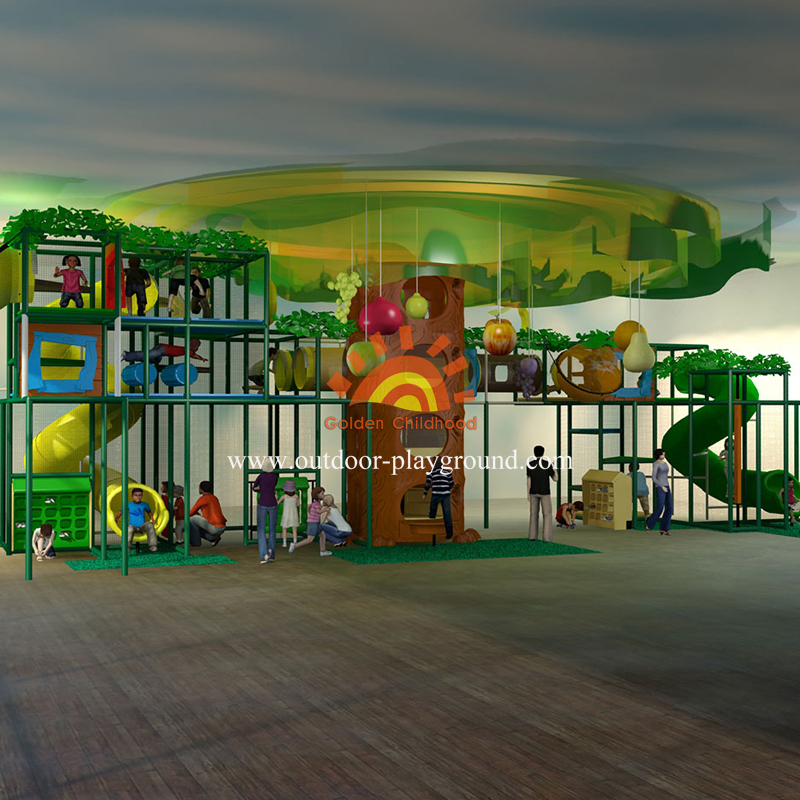 Huge Jungle Themed Playground Set For Kids
