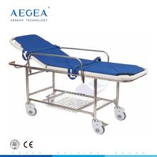 AG-HS013 Métal livraison chirurgicale ABS lit lit hôpital urgence civière d'urgence pour les patients