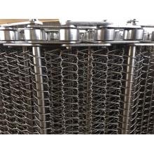 Chain Flat Spiral Wire Mesh Weave Conveyor Belt