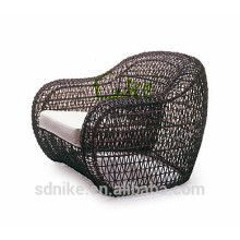 SS-(119) outdoor synthetic rattan leisure patio furniture single sofa chair