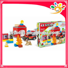 New funny happy block set with music battery operated fire rescue block