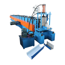 Galvanized metal rain gutter profile cold rolling forming machine