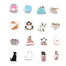 Fashion Jewelry Mini Design Alloy Locket Floating Charms