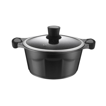 Black Die-Cast Aluminum Kitchen Cookware Pots