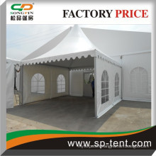 Guangzhou aluminum 10x20m clearspan marquee with 5x5m entrance pagoda