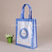 Saco de compras não tecido laminado amigável colorido personalizado de venda quente do presente de Eco para a promoção, supermercado