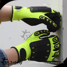 SRSAFETY impact protection glove TPR glove magic buckle