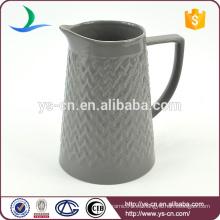 YSj0008-02 jarra de té de convexidad de gres de estilo moderno