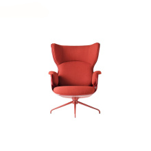 Upholstered High-Back Leather Showtime Lounger Armchair