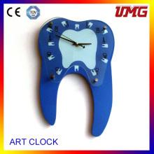 Настенные часы в форме зубов Стоматологические часы