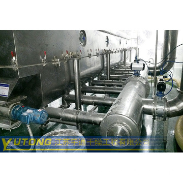 Fluidizing Dryer for Granule Materials