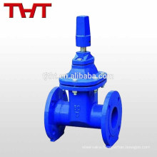 BS 5163 resilient seat non rising stem squre cap flange end gate valve for water