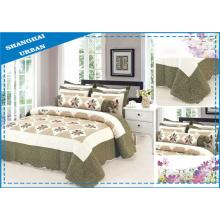 Juego de cama de edredón con estampado de algodón de 6 piezas