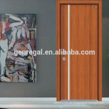 Puerta interior de madera de melamina barata