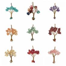 Natural Chip Semi Precious Stone Beads Life of Tree Pendant
