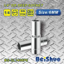 1/4 дюймовая глубокая розетка с метрическим стандартом / SAE для автозапчастей