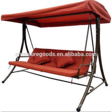 Big steel outdoor swing chair with cushion