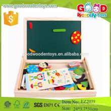 Easy portable education blackboard wooden magnetic white board for children