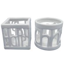 Branco cavidade para fora porcelana Craft Candle Holder
