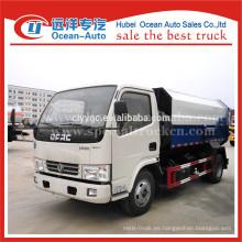 DFAC Euro 4 estándar 5 m3 camión de basura auto-carga para las ventas