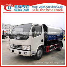 DFAC euro 4 standard 5 m3 self loading garbage truck for sales