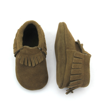 Suede Leather Baby Mocasines Zapatos al por mayor