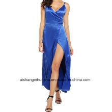 Formal Satin Strap Sexy Evening Dress Evening Elegant Prom Gown