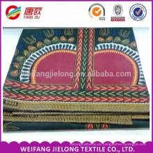 folk-custom red pattern spandex tela de algodón estampado cera africana