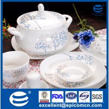 86pcs dining tableware square shape new bone china dinner set