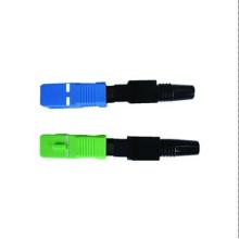 Fábrica de fibra óptica conector rápido sc mm dx, montar facilmente conector sc fibra