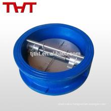 Wafer type dual plate check valve / non return spring valve