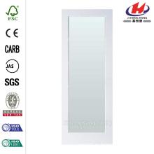 28 pulg. X 80 pulg Sandblast Full Lite Placa de puerta interior de MDF con núcleo sólido con vidrio de privacidad